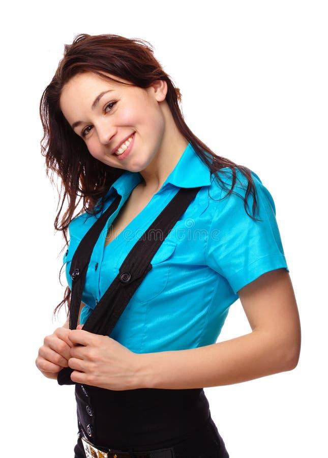 Download детеныши девушки счастливые Стоковое Фото - изображение насчитывающей смешно, потеха: 18393254