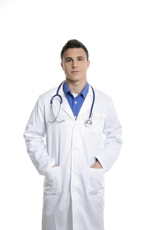 детеныши доктора красивые изолированные белые стоковое изображение