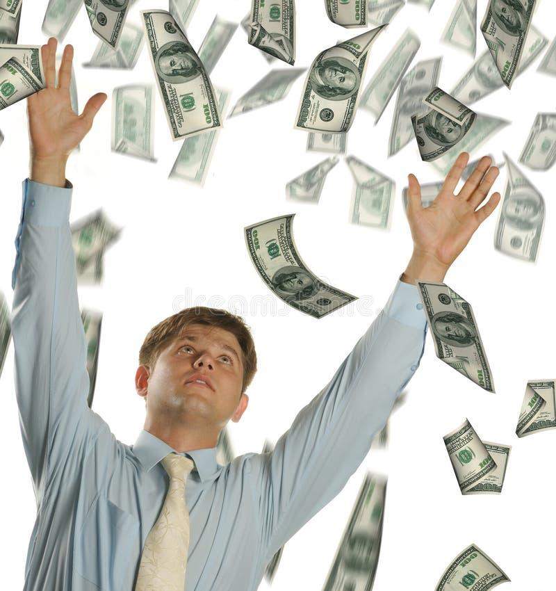 детеныши долларов бизнесмена падая стоковые фото