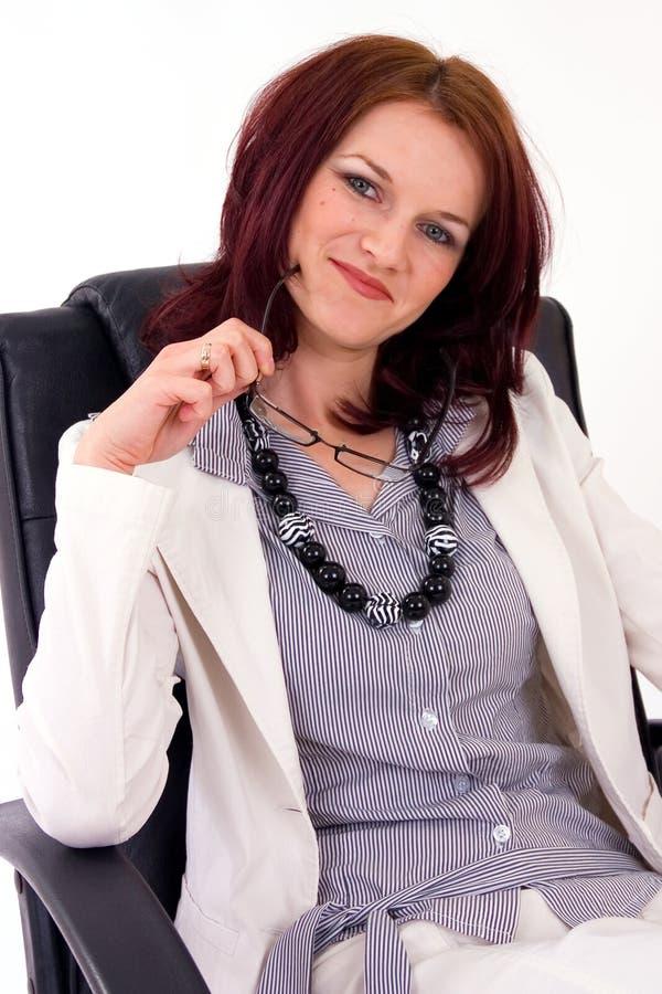 детеныши женского портрета менеджера успешные стоковые фотографии rf