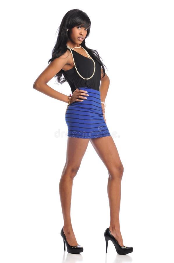 детеныши женщины афроамериканца стоковые изображения rf