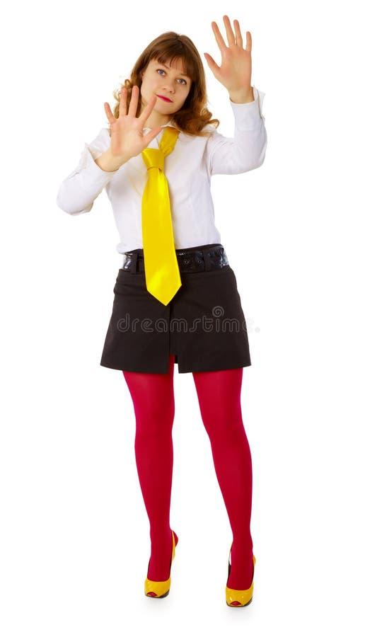 детеныши женщины барьера незримые стоковая фотография rf