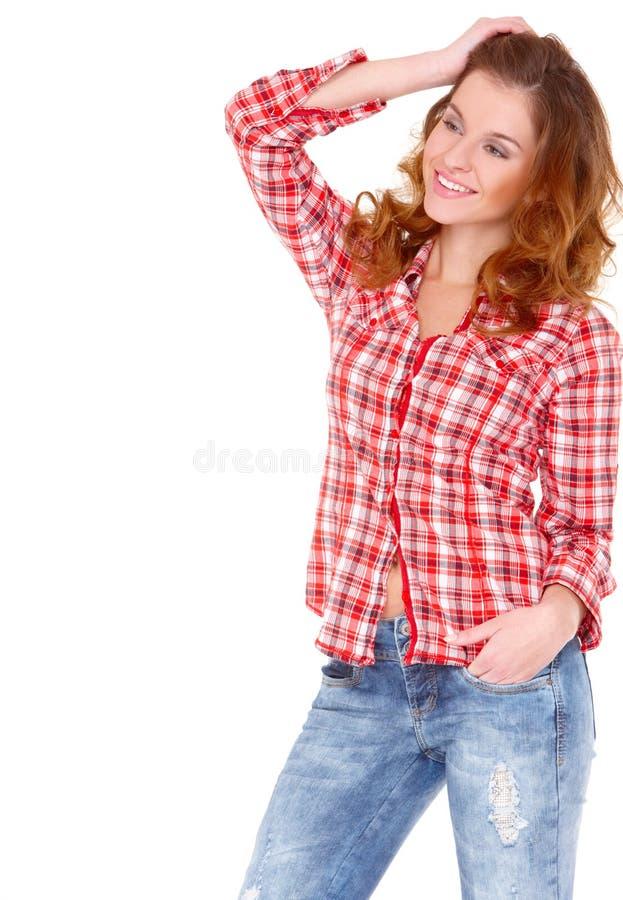 детеныши женщины вскользь одежды симпатичные стоковая фотография rf