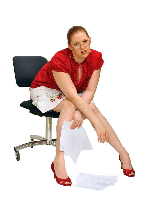 детеныши женщины дела утомленные стоковое изображение rf