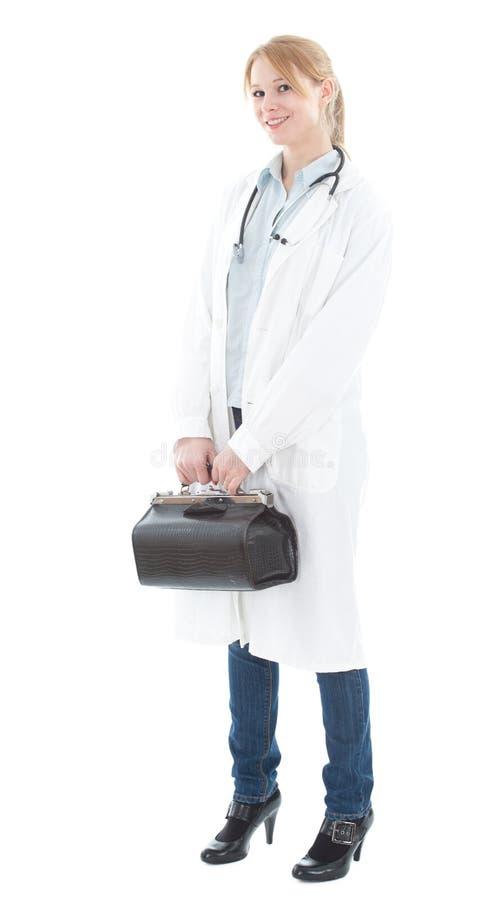 детеныши женщины доктора стоковая фотография