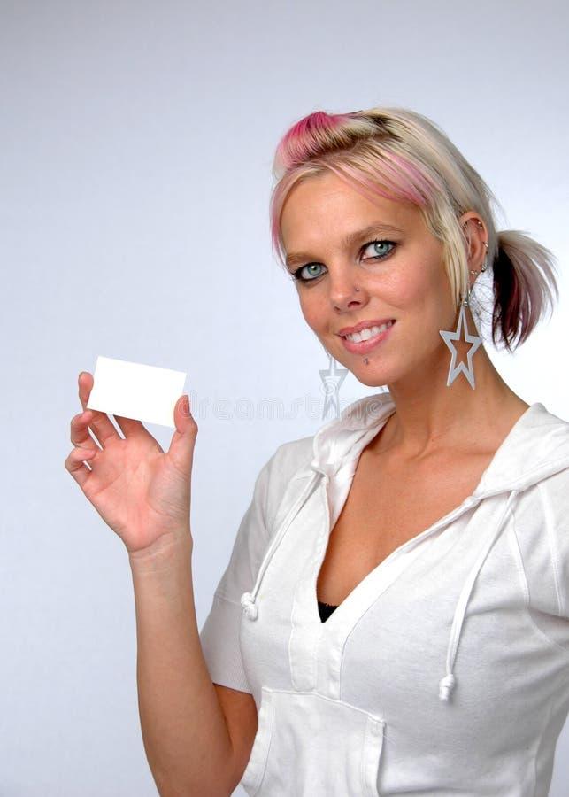 детеныши женщины карточки стоковое изображение rf