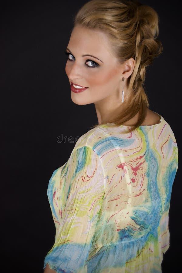 детеныши женщины красивейшего портрета сексуальные стоковые изображения
