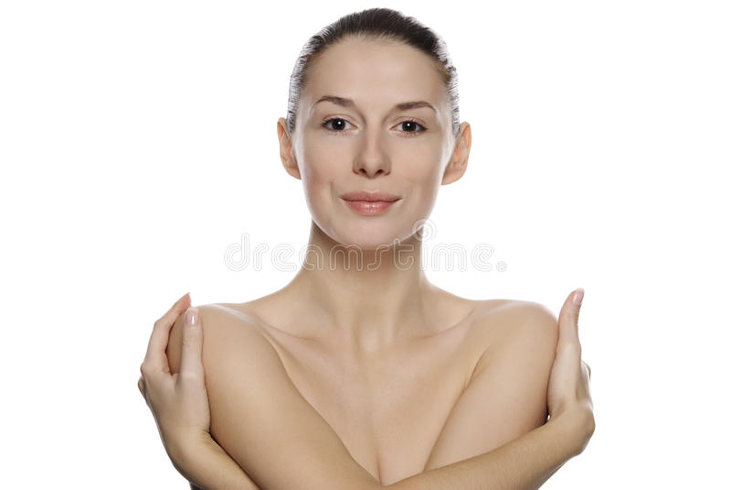 детеныши женщины красивейшего портрета спокойные стоковое изображение rf