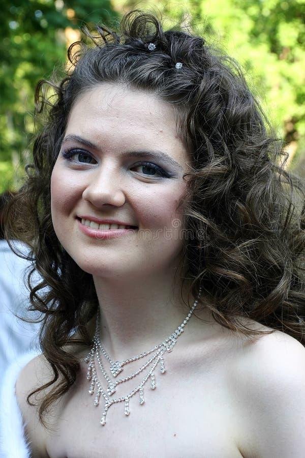 детеныши женщины ожерелья Стоковая Фотография RF