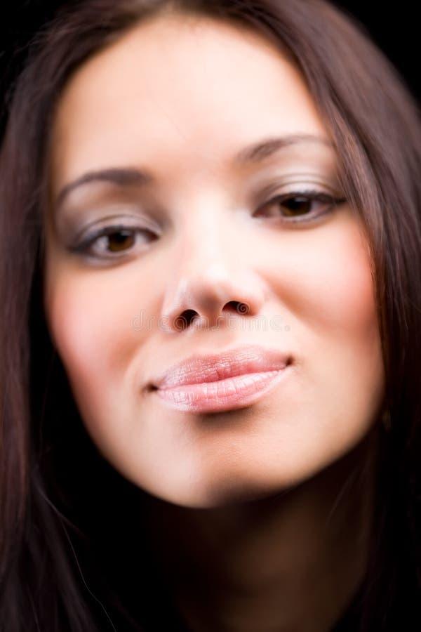 детеныши женщины портрета мягкие стоковые фотографии rf