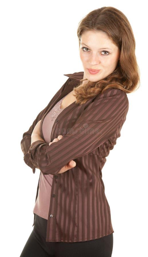 детеныши женщины рукоятки вскользь пересеченные стоковое изображение
