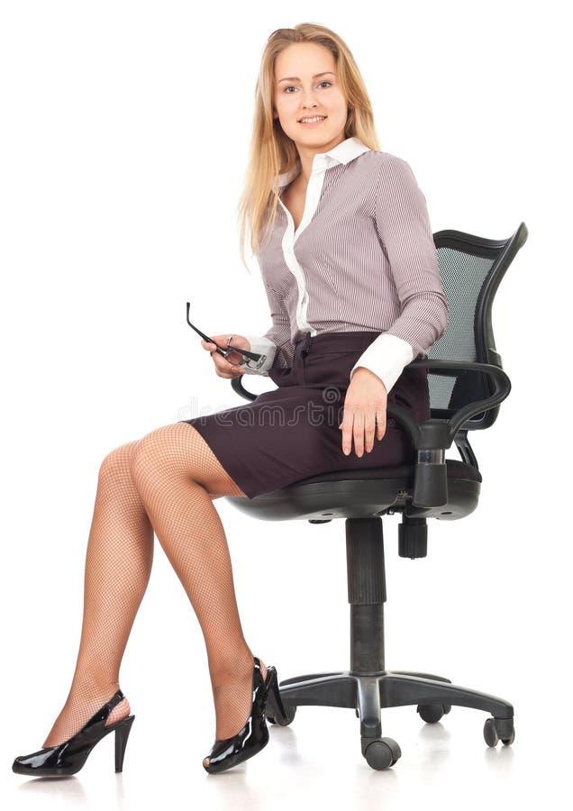 детеныши женщины секретарши дела стоковое фото rf
