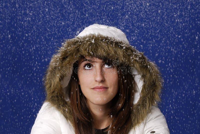 детеныши женщины снежка стоковые изображения