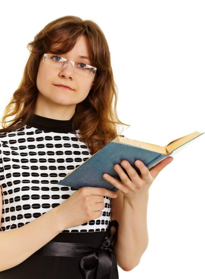 детеныши женщины учебника стекел стоковая фотография rf