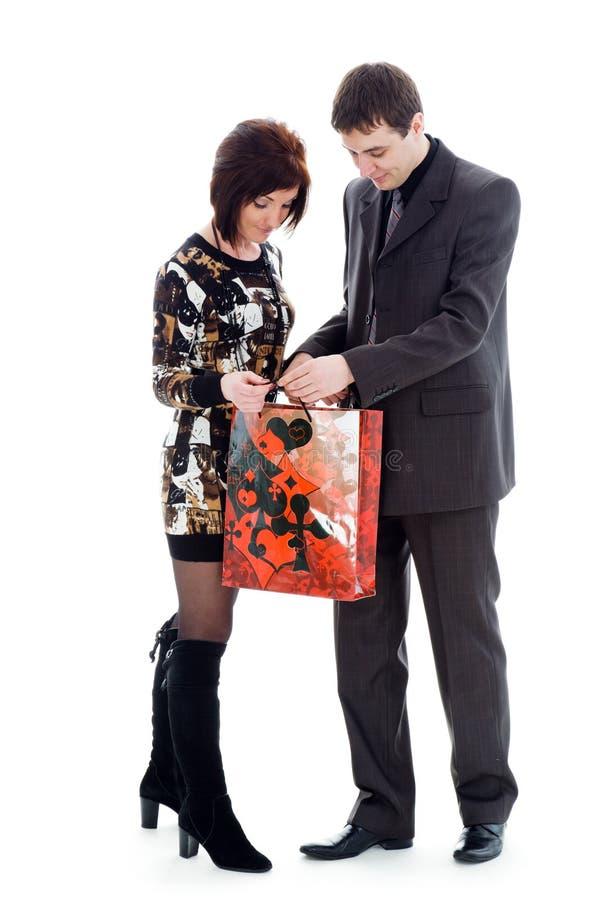 детеныши женщины человека взгляда мешка стоковое изображение