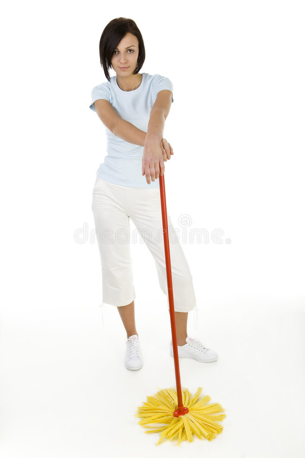детеныши женщины mop стоковые изображения rf