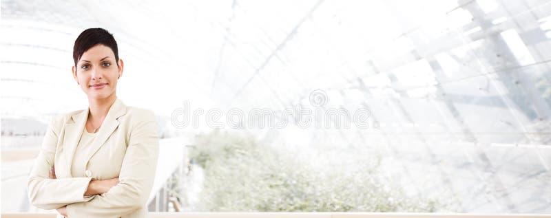 детеныши коммерсантки дела знамени стоковое изображение