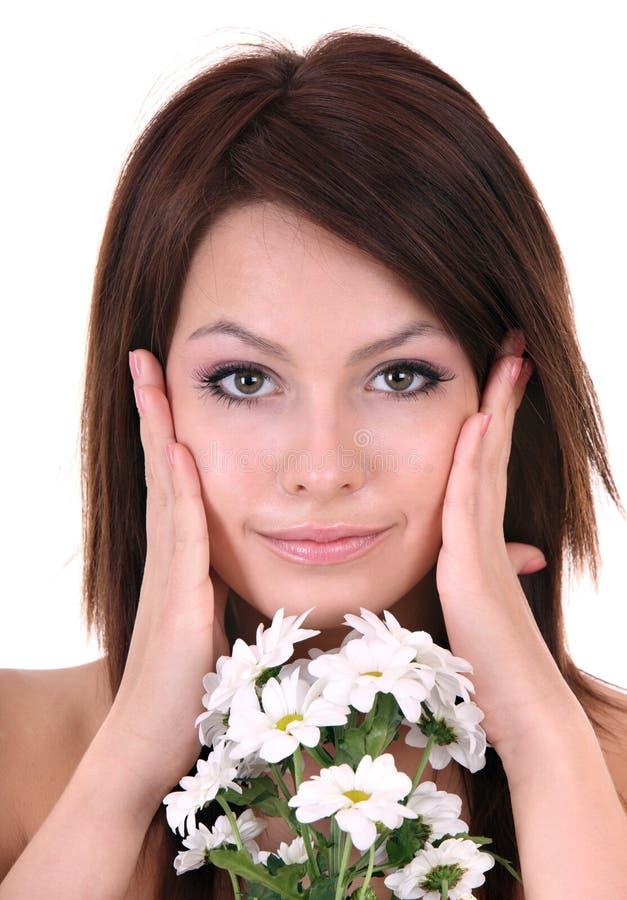детеныши красивейшего цветка белые стоковое фото