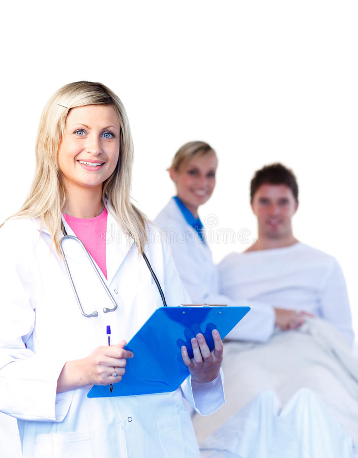 детеныши красивейших докторов терпеливейшие стоковые фотографии rf