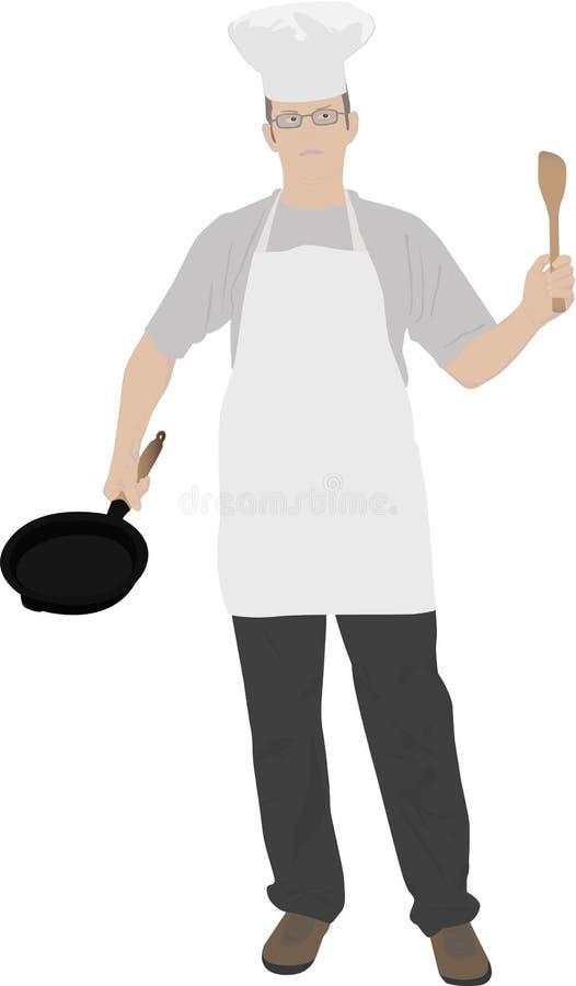детеныши кухни иллюстрации шеф-повара иллюстрация штока