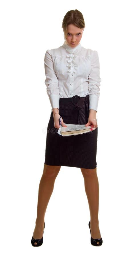 детеныши листа пер бумаги девушки гнева стоковая фотография rf