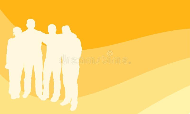 детеныши людей группы иллюстрация штока