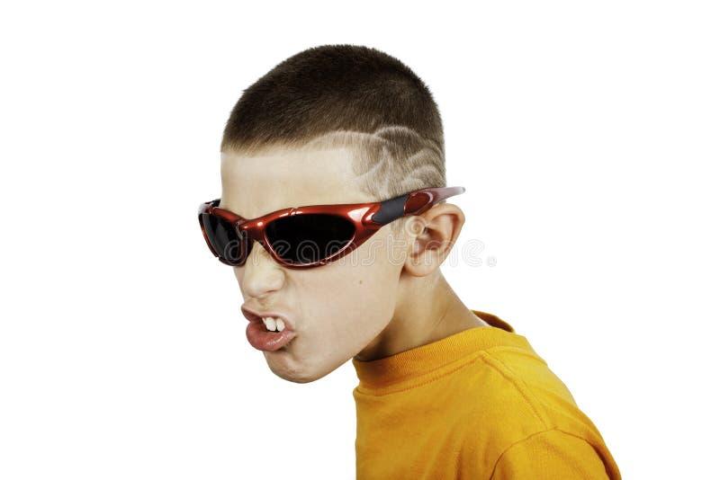 детеныши мальчика несчастные стоковая фотография
