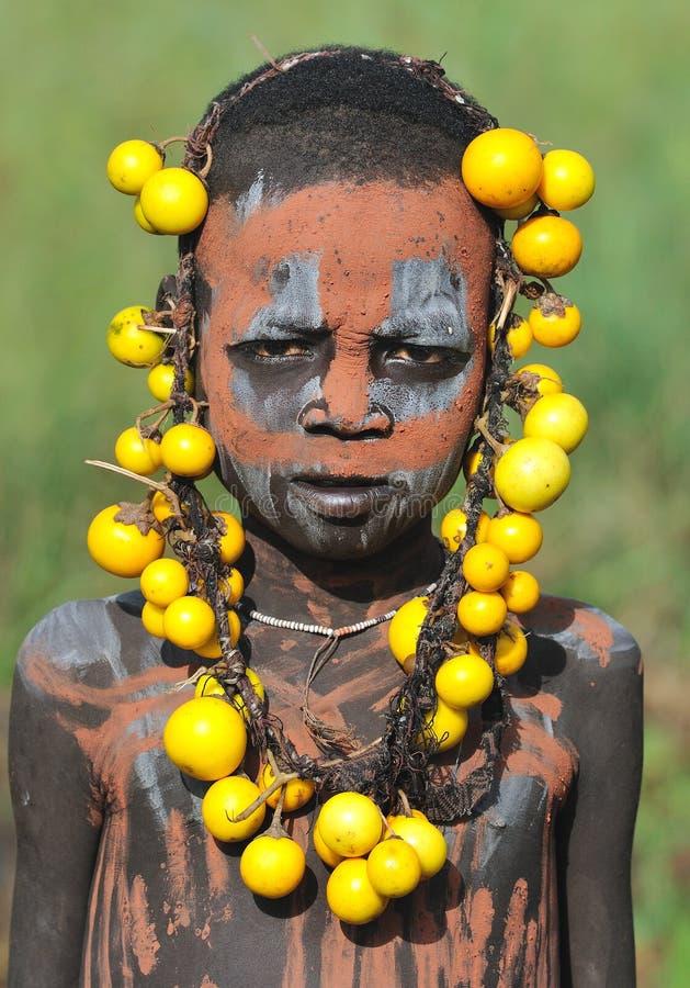 детеныши мальчика эфиопские стоковое фото