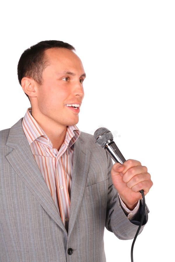 детеныши микрофона человека стоковая фотография