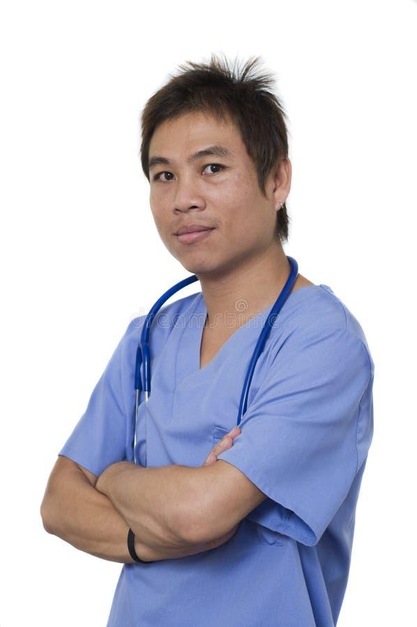 детеныши нюни азиатского intern мыжские медицинские стоковое изображение