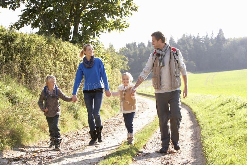 детеныши парка семьи гуляя стоковое фото rf