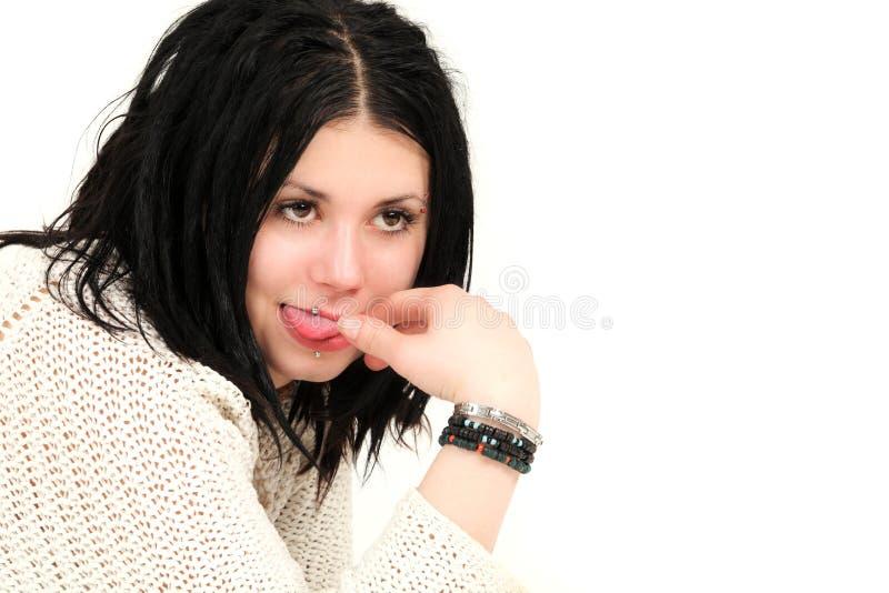 детеныши портрета девушки подростковые стоковое изображение rf