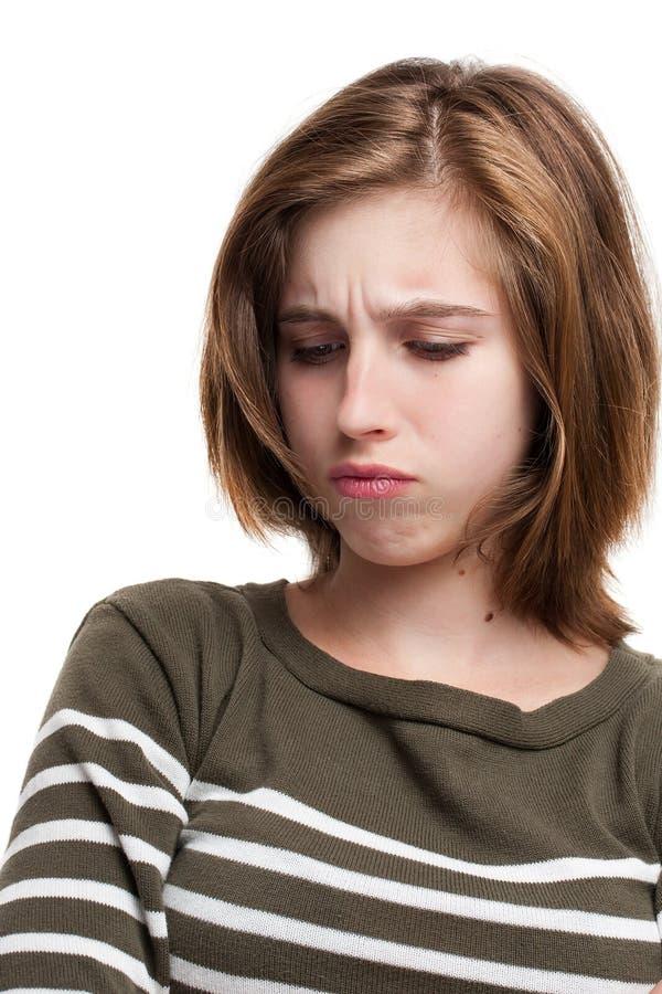 детеныши портрета девушки предназначенные для подростков стоковые изображения