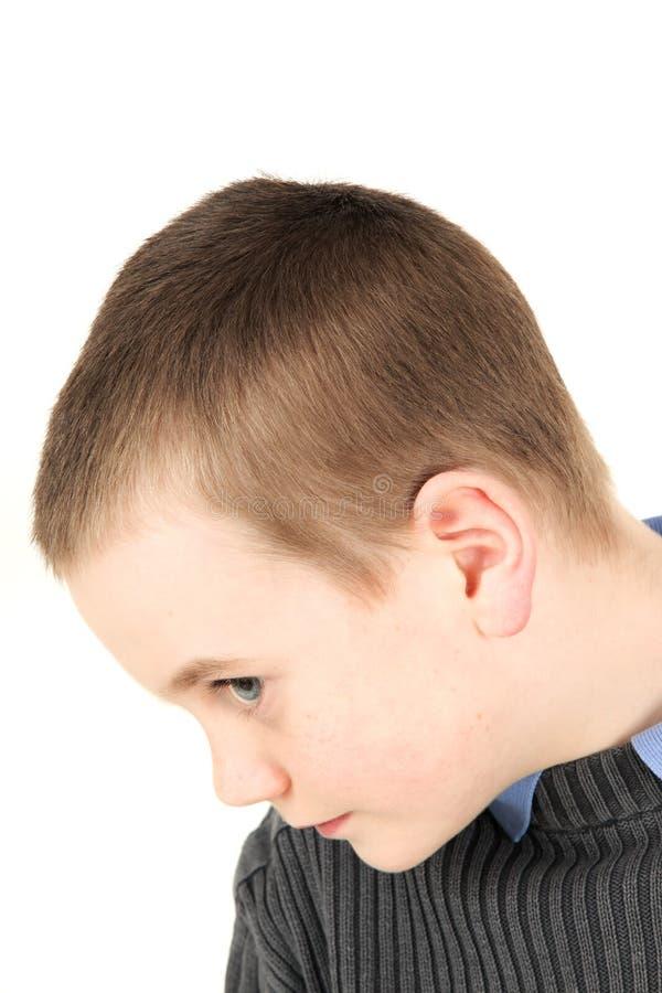 детеныши портрета мальчика стоковое изображение rf
