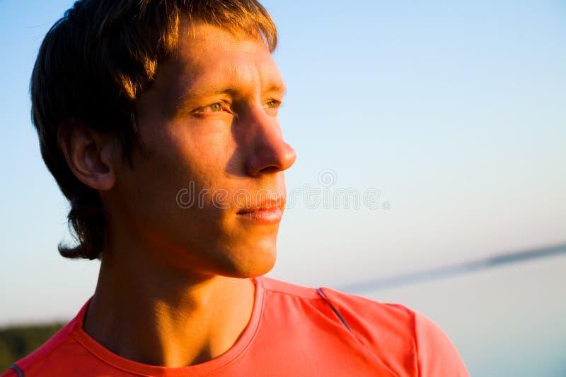 детеныши портрета человека стоковые фотографии rf