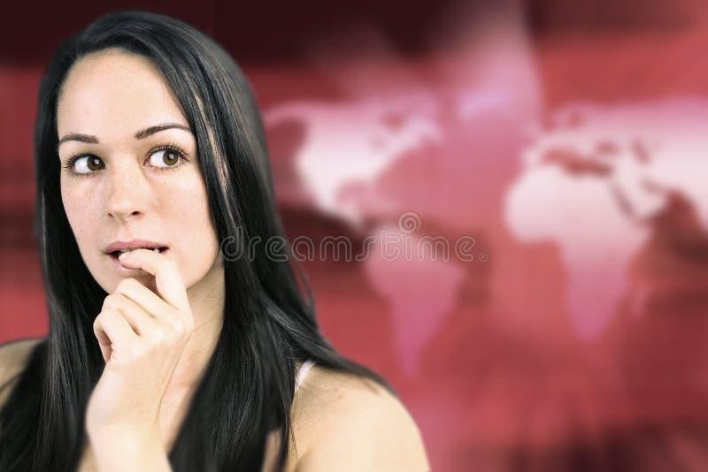 детеныши потревоженные женщиной стоковая фотография
