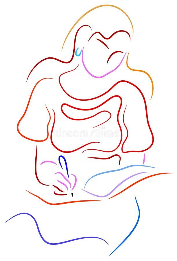 детеныши сочинительства женщины тетради бесплатная иллюстрация
