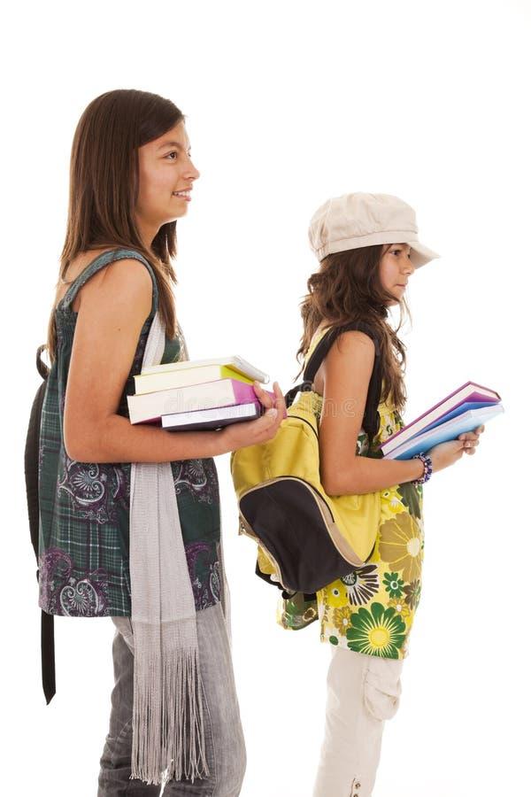 детеныши студента 2 сестер стоковая фотография rf
