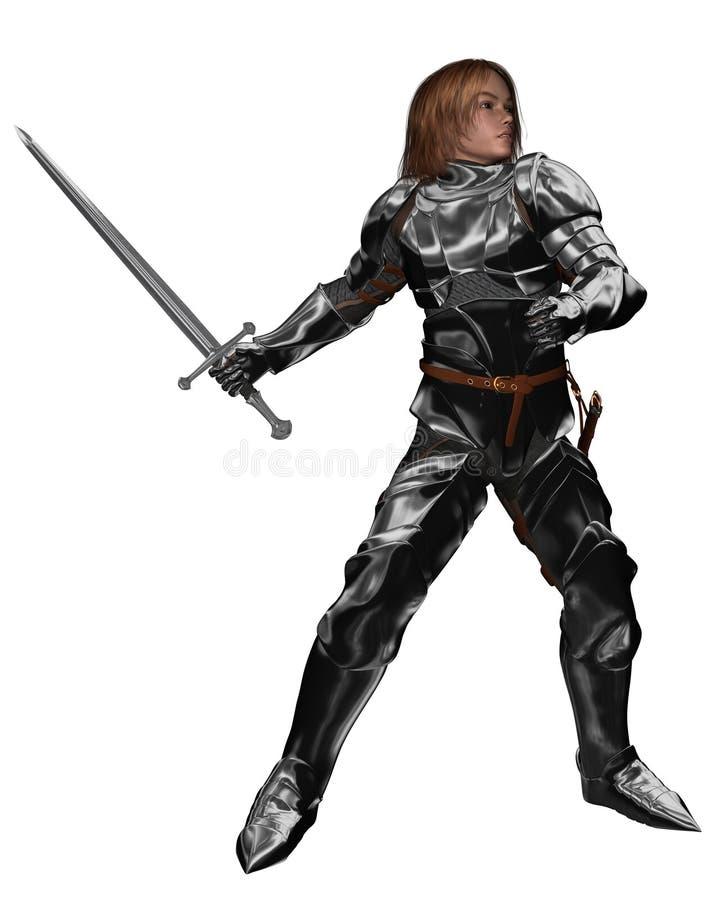 детеныши тренировки рыцаря бой бесплатная иллюстрация