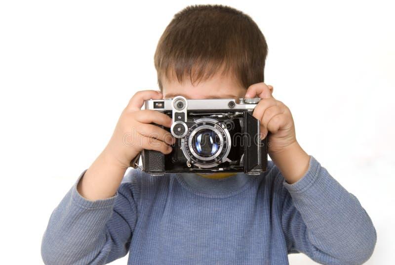 детеныши фотографа стоковое изображение