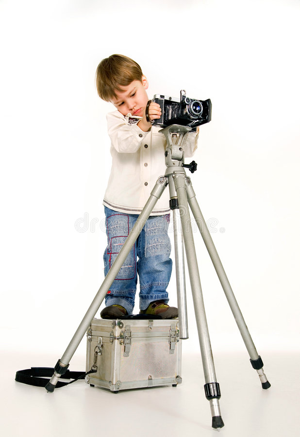 детеныши фотографа стоковое фото