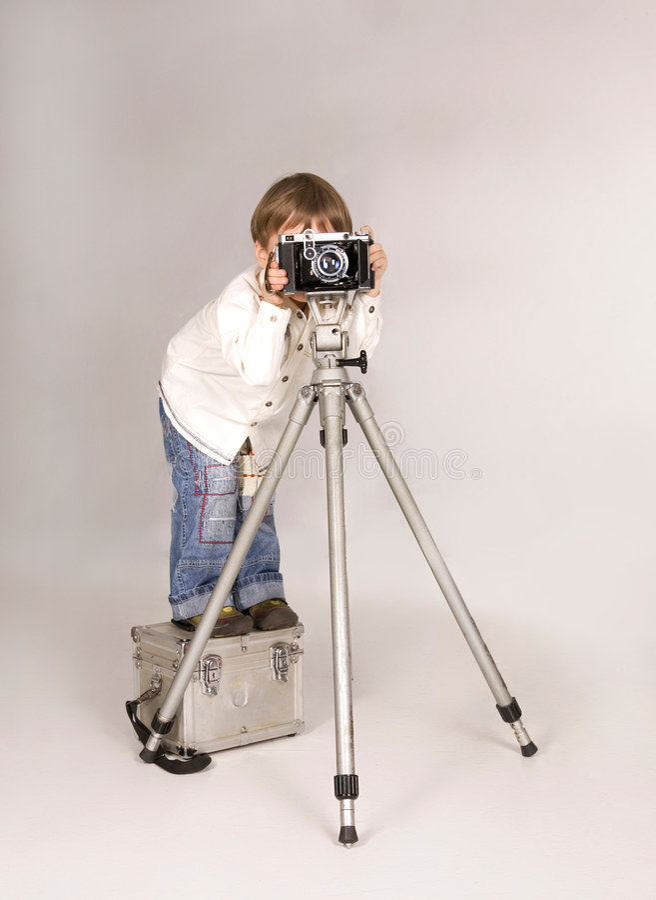 детеныши фотографа стоковая фотография rf