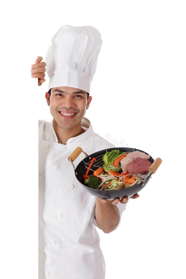 детеныши человека еды шеф-повара непальские востоковедные стоковое изображение