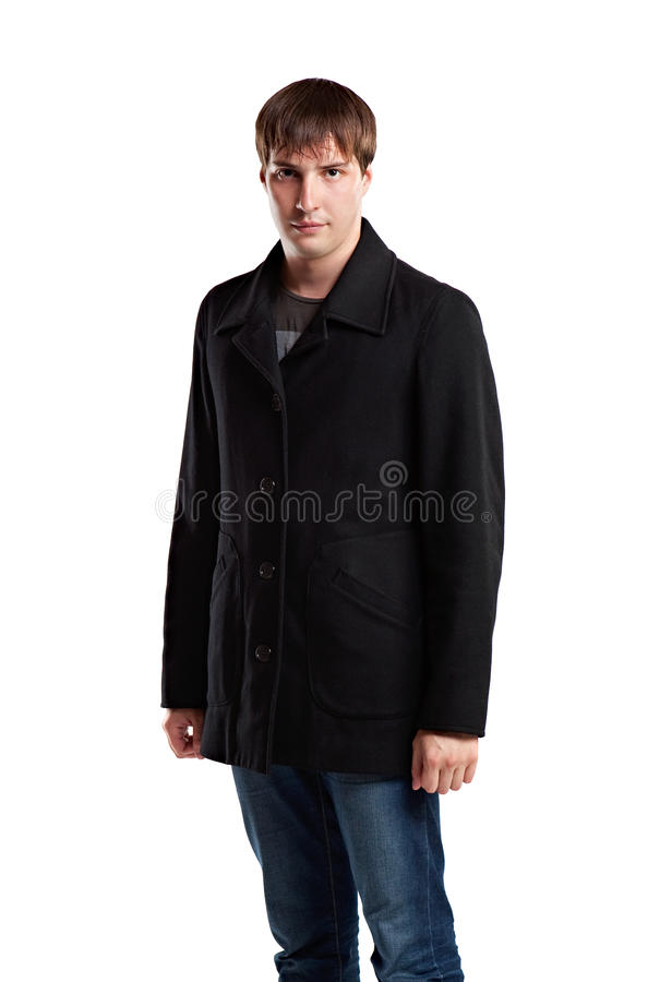 детеныши человека пальто сильные стоковые изображения rf