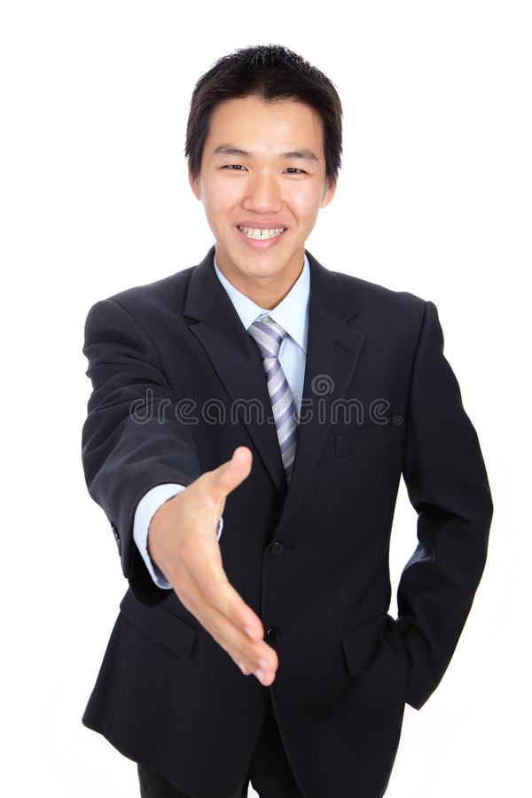 детеныши человека рукопожатия дела стоковое изображение
