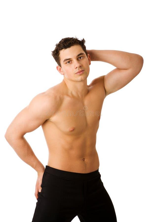 детеныши человека спортсмена стоковое изображение rf
