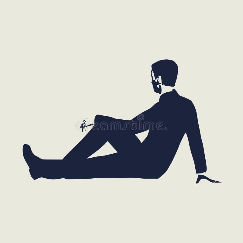 детеныши человека relaxed иллюстрация штока