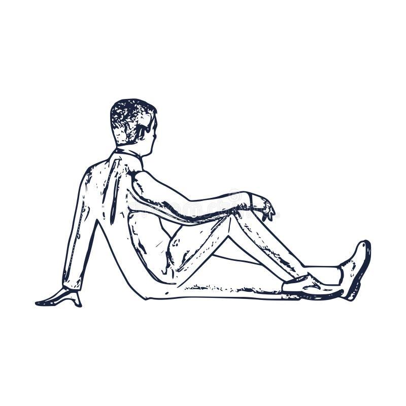 детеныши человека relaxed иллюстрация вектора