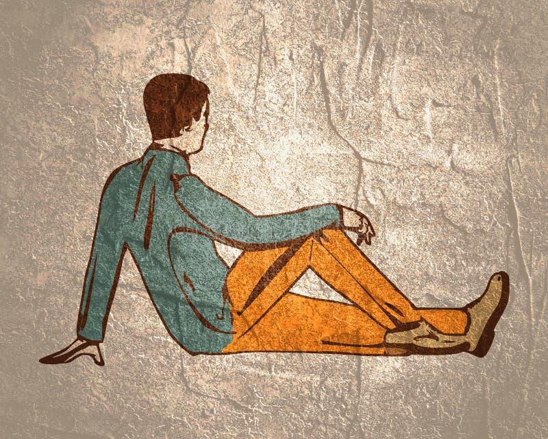 детеныши человека relaxed бесплатная иллюстрация