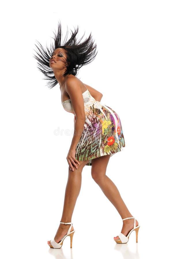 детеныши чернокожей женщины стоковая фотография rf